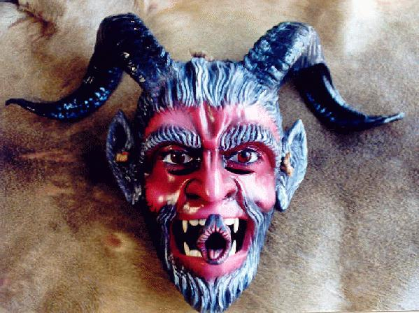 La máscara del diablo fue hecha por el escultor Alejandro Vera, de ...