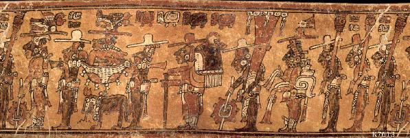 Maya trumpets of bonampak for El mural de bonampak